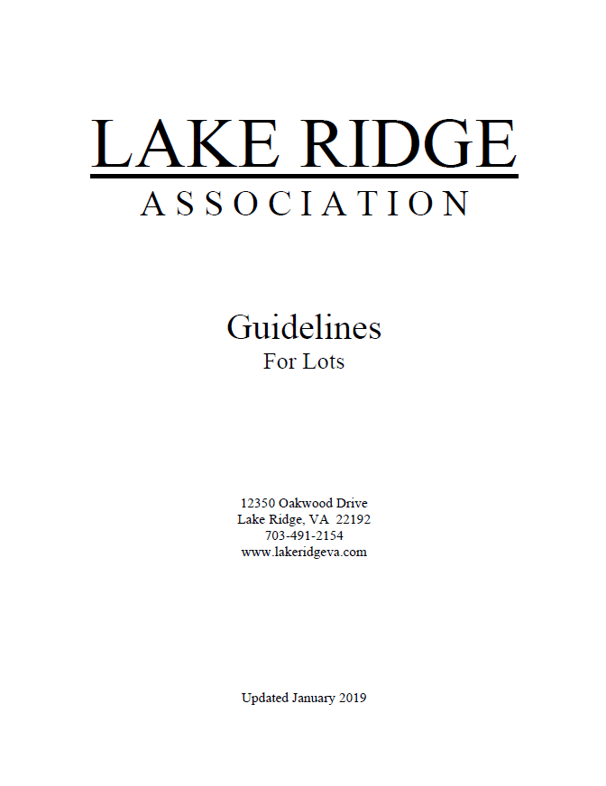 Guidelines for Lots Cover