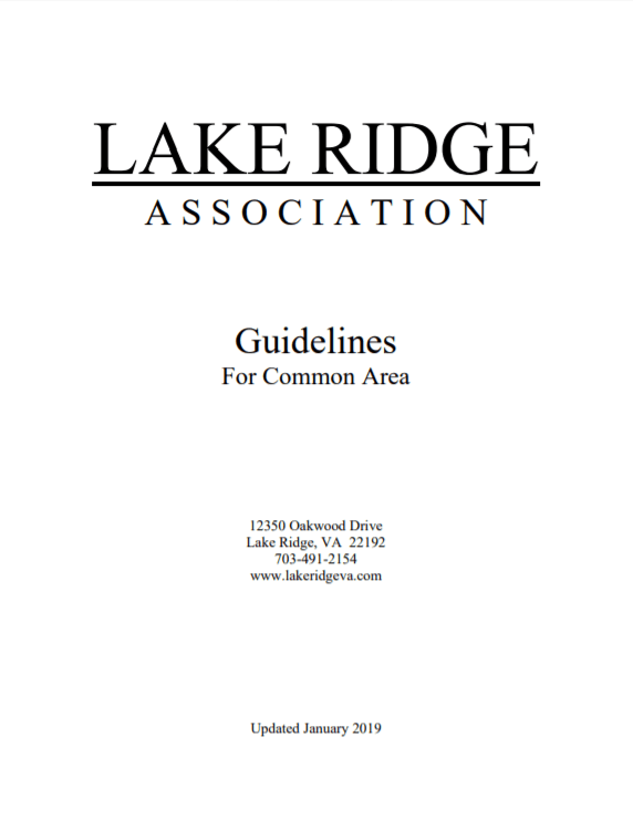 Guidelines for Common Area Cover